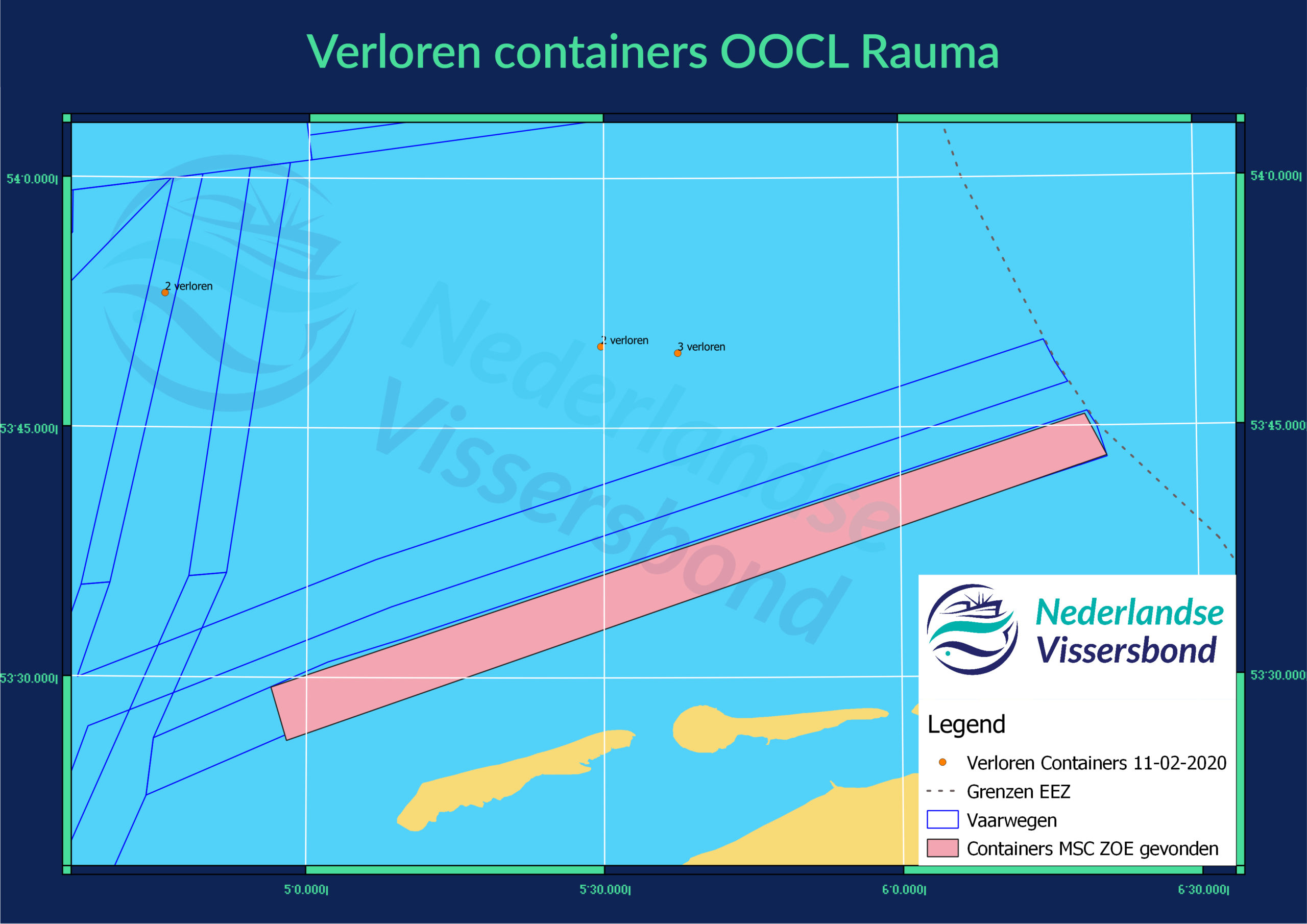 Verloren Containers OOCL Rauma